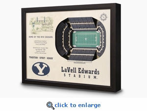 LaVell Edwards Stadium 3-D Wall Art - BYU Cougars Football