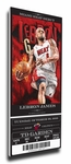 LeBron James Artist Series Canvas Mega Ticket - Miami Heat (Farano)