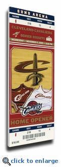 LeBron James First Cleveland Cavaliers Home Game (11/5/03) Canvas Mega Ticket