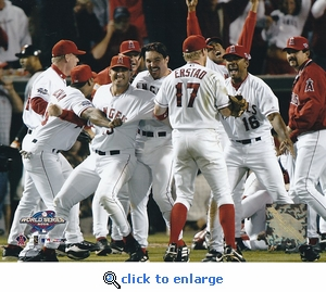 Los Angeles Angels 2002 World Series Game 7 Team Celebration 8x10 Photo