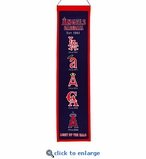 Los Angeles Angels Heritage Wool Banner (8 x 32)