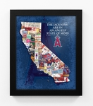 Los Angeles Angels Personalized State of Mind Framed Print - California