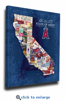 Los Angeles Angels State of Mind Canvas Print - California