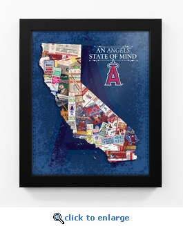 Los Angeles Angels State of Mind Framed Print - California