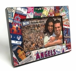 Los Angeles Angels Ticket Collage Black Wood Edge 4x6 inch Picture Frame
