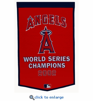 Los Angeles Angels World Series Dynasty Wool Banner (24 x 36)