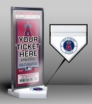 Los Angeles Angels My First Game Ticket Display Stand
