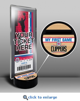 Los Angeles Clippers My First Game Ticket Display Stand