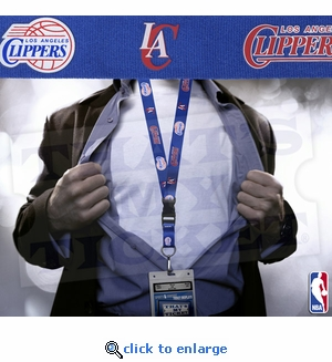 Los Angeles Clippers NBA Lanyard Key Chain Ticket Holder - Blue