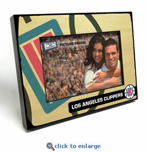 Los Angeles Clippers Black Wood Edge 4x6 inch Picture Frame