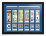 Los Angeles Dodgers 6-Time World Series Champions Tickets to History - Framed Print