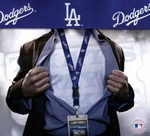 Los Angeles Dodgers MLB Lanyard Key Chain and Ticket Holder - Navy