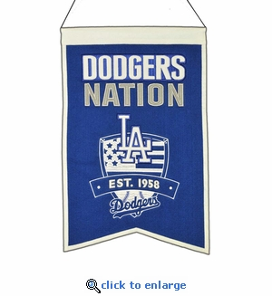 Los Angeles Dodgers Nations Wool Banner (14 x 22)