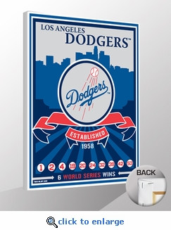 Los Angeles Dodgers Sports Propaganda Canvas Print - Dodgers