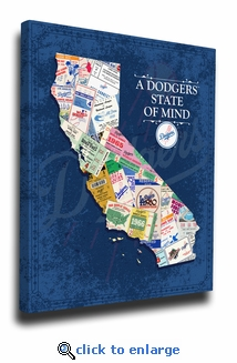 Los Angeles Dodgers State of Mind Canvas Print - California