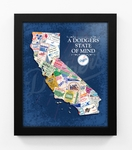 Los Angeles Dodgers State of Mind Framed Print - California