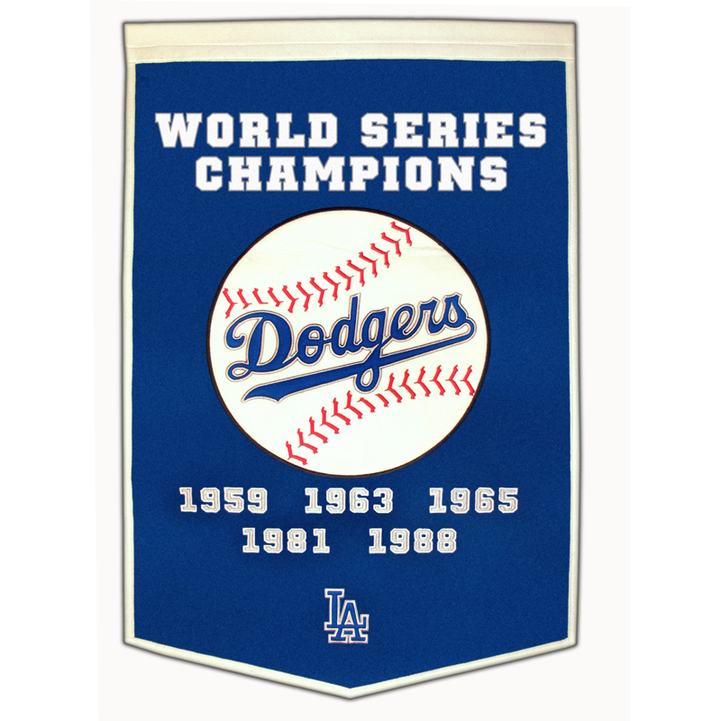 Los Angeles Dodgers World Series Dynasty Wool Banner 24 X 36
