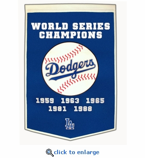 Los Angeles Dodgers World Series Dynasty Wool Banner (24 x 36)