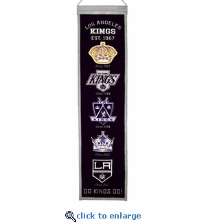 Los Angeles Kings Heritage Wool Banner (8 x 32)