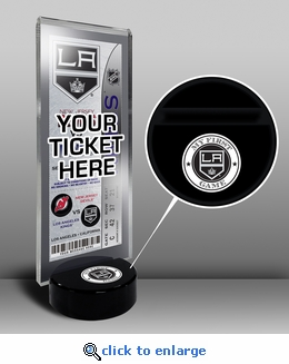 Los Angeles Kings My First Game Hockey Puck Ticket Stand