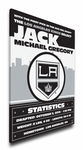 Los Angeles Kings Personalized Canvas Birth Announcement - Baby Gift