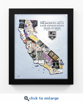 Los Angeles Kings Personalized State of Mind Framed Print - California