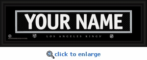 Los Angeles Kings Personalized Stitched Jersey Nameplate Framed Print