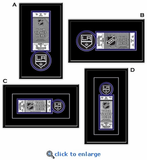 Los Angeles Kings Single Ticket Frame