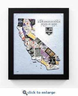 Los Angeles Kings State of Mind Framed Print - California