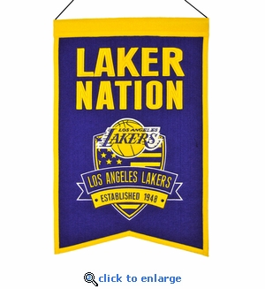 Los Angeles Lakers Nations Wool Banner (14 x 22)