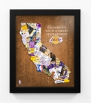 Los Angeles Lakers Personalized State of Mind Framed Print - California