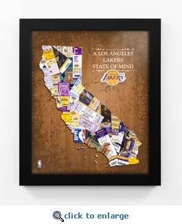 Los Angeles Lakers State of Mind Framed Print - California