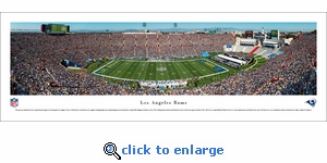 Los Angeles Rams - 1st Game in LA - Panoramic Photo (13.5 x 40)