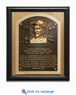 Lou Boudreau Baseball Hall of Fame Plaque Framed Print - Cleveland Indians