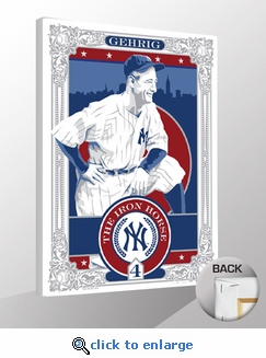Lou Gehrig Sports Propaganda Canvas Print - Yankees