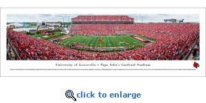 Louisville Cardinals Football - 50 Yard Line - Panoramic Photo (13.5 x 40)