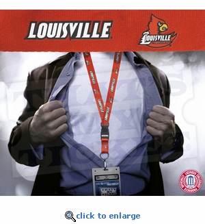 Louisville Cardinals NCAA Lanyard Key Chain and Ticket Holder