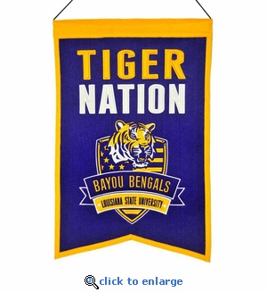 LSU Tigers Nations Wool Banner (14 x 22)