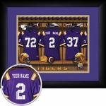 LSU Tigers Personalized Football Locker Room Print