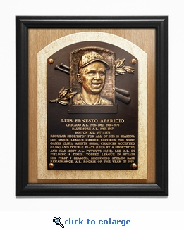 Luis Aparicio Baseball Hall of Fame Plaque Framed Print - Chicago White Sox