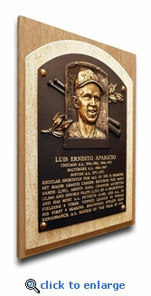Luis Aparicio Baseball Hall of Fame Plaque on Canvas - Chicago White Sox