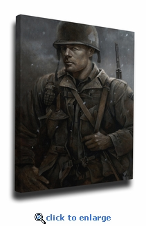 Major Winters Band of Brothers Canvas Reprint of Original Painting by Brian Fox