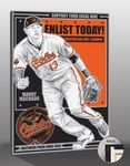 Manny Machado Sports Propaganda Canvas Print - Orioles