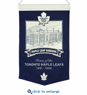 Maple Leaf Gardens Wool Banner (20 x 15) - Toronto Maple Leafs