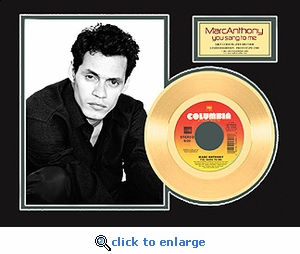 Marc Anthony - You Sang to Me Framed Gold 45, LE 2500