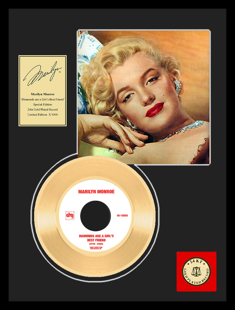Marilyn Monroe - Diamonds Are…Framed Gold Record, LE 1,000