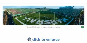 Marshall University Thundering Herd Football - End Zone - Panoramic Photo (13.5 x 40)