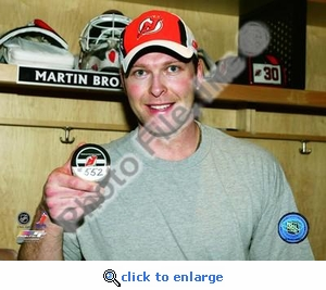Martin Brodeur Most Wins Goaltender in NHL History 8x10 Photo