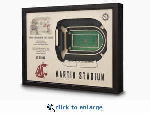 Martin Stadium 3-D Wall Art - Washington State Cougars Football
