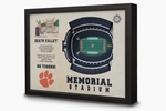 Memorial Stadium 3-D Wall Art - Clemson Tigers Football